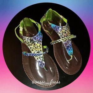 Torrid Sandals, Size 12 EUC  Multi-colored
